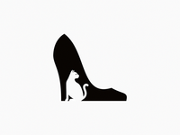 cat + shoe / logo idea