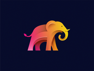Elephant animal design brand symbol illustration icon logo