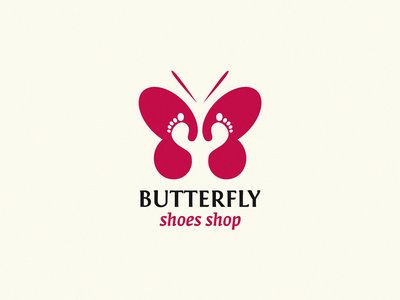 Butterfly identity sign yuro illustration design brand symbol icon logo