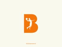 Basketball letter B