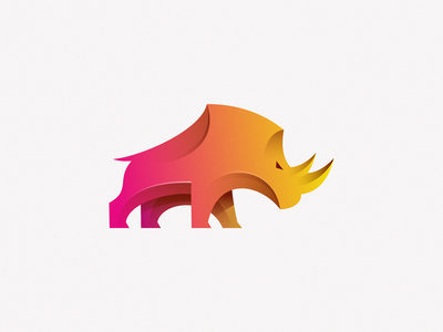 Rhino branding illustration design symbol logo