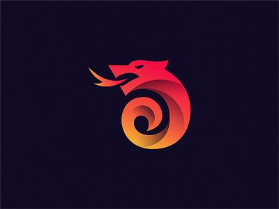 Dragon sign yuro illustration design brand symbol icon logo