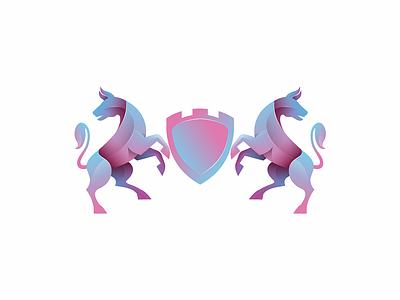 Heraldry yuro illustration design brand symbol icon logo