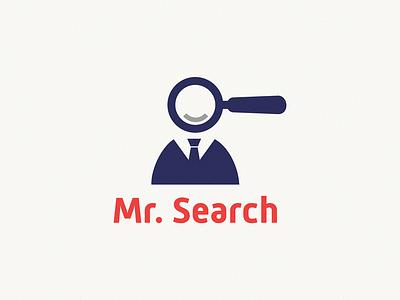 mr. Search identity sign yuro illustration design brand symbol icon logo