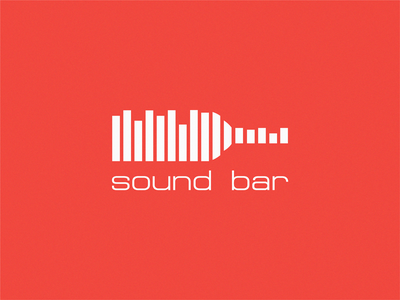 Sound Bar design brand symbol icon logo