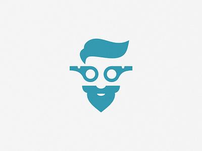 Trainer / whistle + face vector art sign identity design brand symbol icon logo