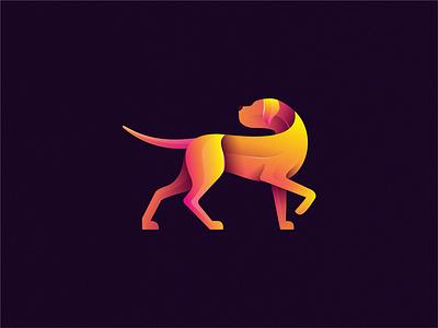 Dog dog animal identity sign yuro illustration design brand symbol icon logo
