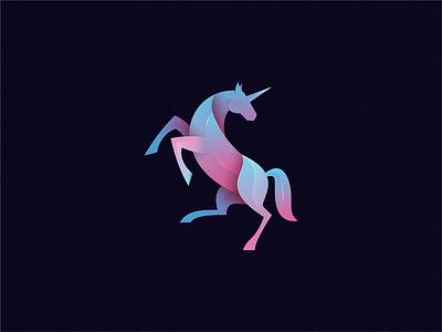Unicorn identity sign yuro illustration design brand symbol icon logo unicorn