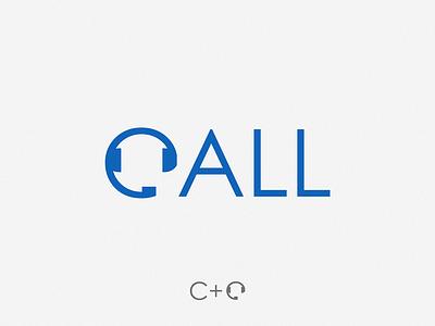Call yuro illustration design brand symbol icon logo call
