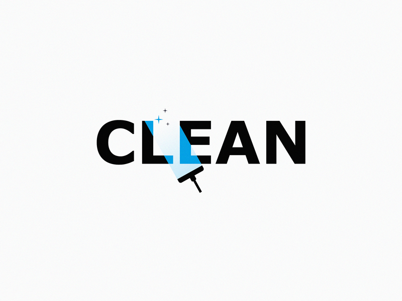 Clean clean brand symbol icon logo