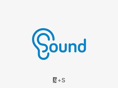 Sound / s + ear brand symbol icon logo ear s sound