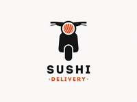 sushi delivery / scooter + sushi