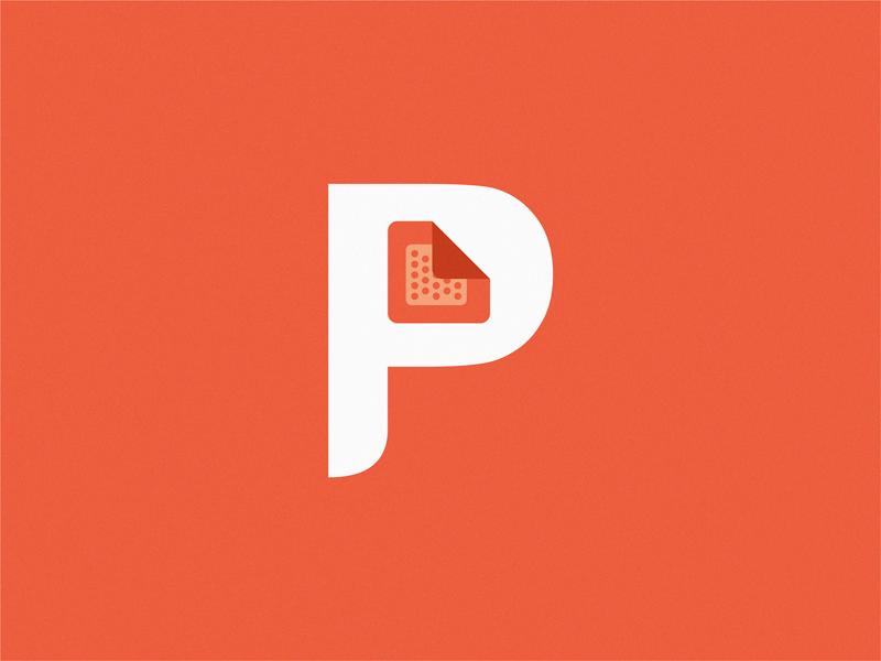 Plaster letter P plaster