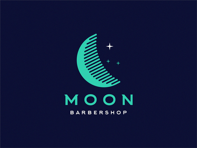moon barbershop / comb + moon
