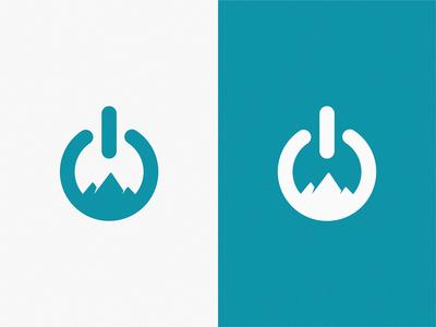 Power + Mountains / logo idea