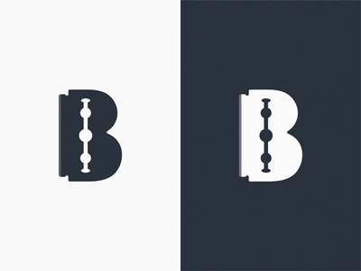 Barber B+ Razor / logo idea letter logo brand symbol icon b razor barber