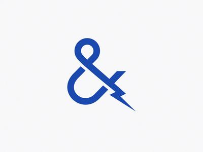 Ampersand + lightning / logo idea