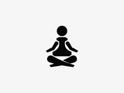 Chess Yoga / logo idea pawn yoga chess