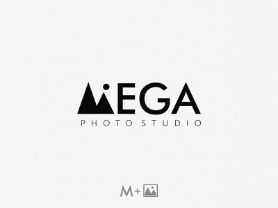 Mega photo studio / logo idea m lettermark studio photo mega