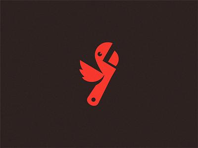key Parrot / logo idea bird parrot key