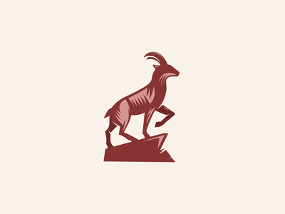 goat animal identity sign yuro illustration design brand symbol icon logo goat