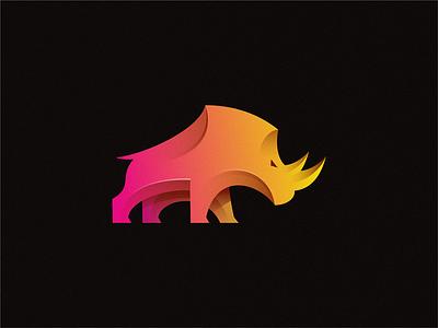 rhino letter identity sign yuro illustration design brand symbol icon logo