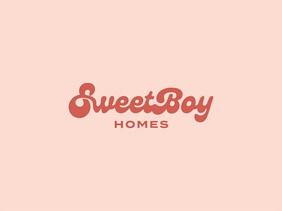 SweetBoy Homes obx rva richmond campfireandco typography home renovation icon vector branding logo illustration design