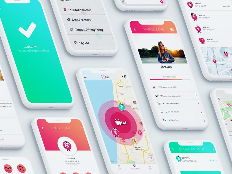 App design flat animation ui design app ux illustration