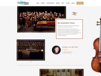 Design for orchestra website