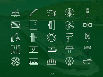 Icons for a business tool current electricity lines wires icon electrical nautical technical shipyard ship boat