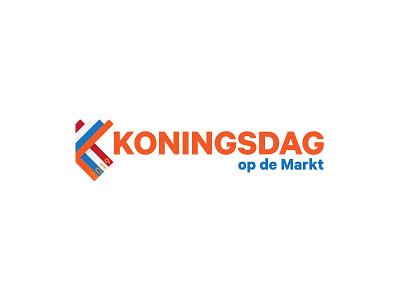 Koningsdag op de Markt logo lines design brand illustration kingsday logo