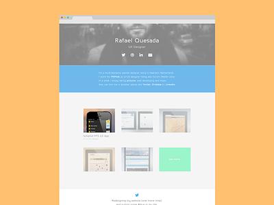 Portfolio redesign portfolio redesign design personal website flat projects bio web ux ui
