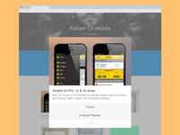 Portfolio redesign - Content pop-up