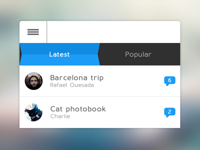 Concept Scrollable-Tabs tabs scroll list concept experiment photo table view ui ux