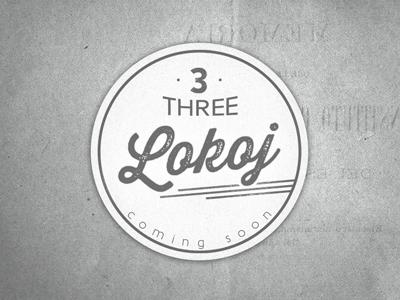 Lokoj logo app stamp three identity texture lokoj