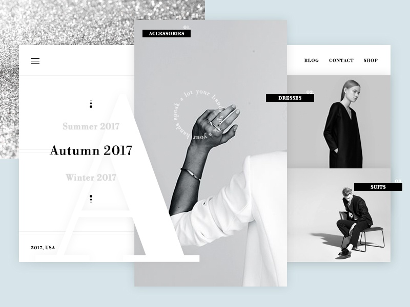 Silver is THE color. inspiration pastel photoshop design fashion web modern minimal white black ux ui