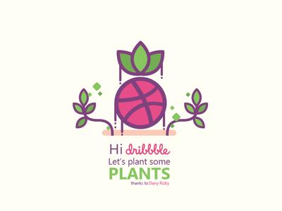 Planting and Harvesting dribbble invitation first shot illustration ivy fruit vegetable plant harvest garden debut first