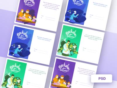 Marhaban Yaa Ramadan procreate gift family illustration post card pray holy month moslem ramadan