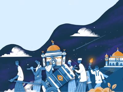 Blessing Night eid mubarak celebrate religion holy takbir lebaran moslem ramadan