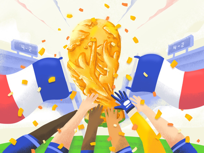 World Champion world team trophy cup france champion worldcup football soccer