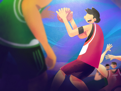 Gotcha! He Got The Ball apps superapps illustration work new year hope play basketball