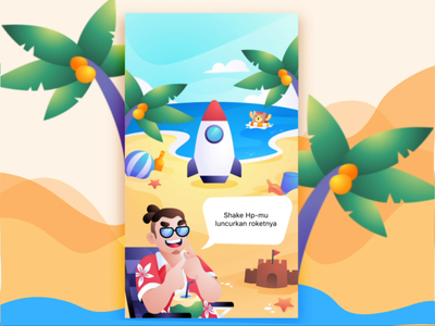 RocketShake Summer ux motion animation mobile ui illustration game