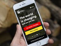 University of Northampton Mobile Homepage Concept