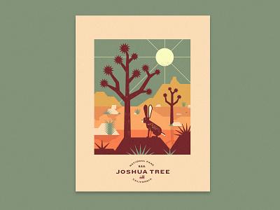 Joshua Tree Dreamin california national parks geometric