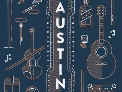 Amie Austin Band concert fiddle guitar country music gig poster