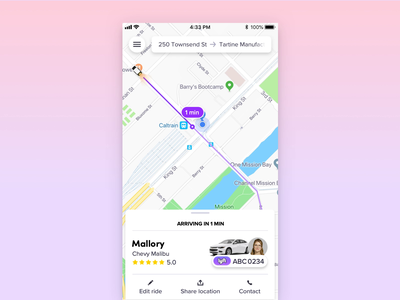 Rider safety reminder animation ux mobile interaction ui