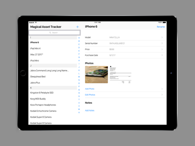 Daily UI  - Asset Tracker