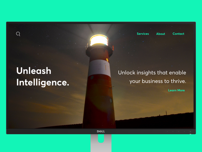 Concept landing page