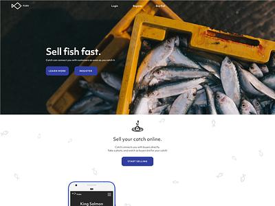 Fish Marketplace Landing Page