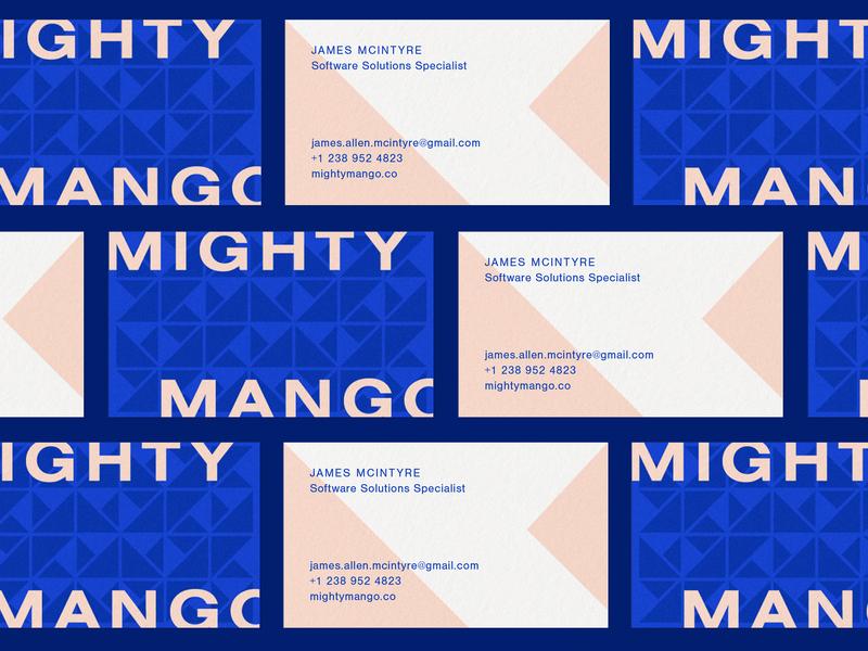 Mighty Mango Cards business card design business card geometric typeface minimal vector typography logotype flat logo design branding identity daily logo design brand identity branding identity design logo identity branding design branding design
